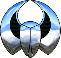 Simulated 3D Chrome Scarab Decal / Sticker 05