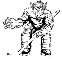 Hockey Buffalo Mascot Decal / Sticker hk1