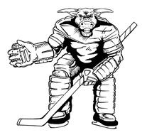 Hockey Bull Mascot Decal / Sticker 1