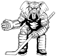Hockey Elephants Mascot Decal / Sticker 1