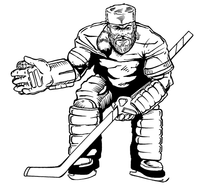 Hockey Frontiersman Mascot Decal / Sticker 1