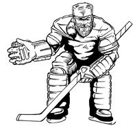 Hockey Frontiersman Mascot Decal / Sticker 1