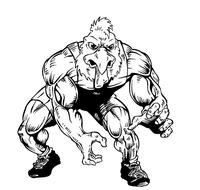 Wrestling Gamecocks Mascot Decal / Sticker 3