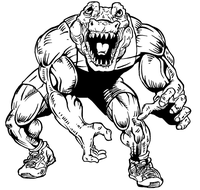 Wrestling Gators Mascot Decal / Sticker 3