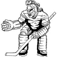 Hockey Knights Mascot Decal / Sticker 1