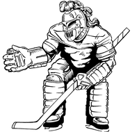 Hockey Knights Mascot Decal / Sticker 1
