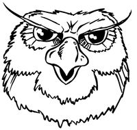 Owls Mascot Decal / Sticker 2