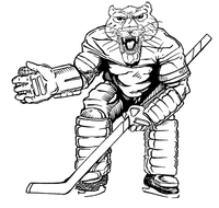 Hockey Cougars / Panthers Mascot Decal / Sticker 2