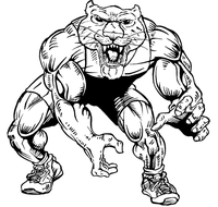 Wrestling Cougars / Panthers Mascot Decal / Sticker 1
