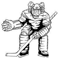 Hockey Rams Mascot Decal / Sticker 1