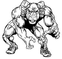 Wrestling Rams Mascot Decal / Sticker 2