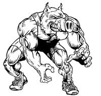 Wrestling Razorbacks Mascots Decal / Sticker 1