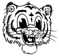 Tigers Mascot Decal / Sticker 1