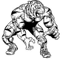 Wrestling Tigers Mascot Decal / Sticker 2