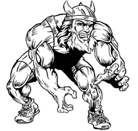 Wrestling Vikings Mascot Decal / Sticker 2
