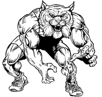 Wrestling Wildcats Mascot Decal / Sticker 2