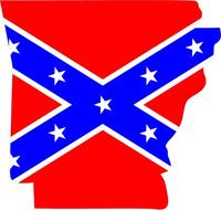 Arkansas Rebel / Confederate Flag Decal / Sticker 03