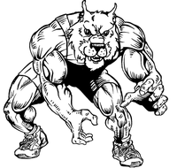 Wrestling Wolves Mascot Decal / Sticker 2