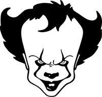 Pennywise The IT Clown Decal / Sticker 02