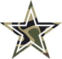 Camouflage Star Decal / Sticker 28