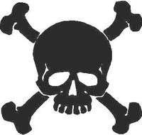 Skull and Cross Bones Decal / Sticker