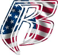 American Flag Ruff Ryders Decal / Sticker