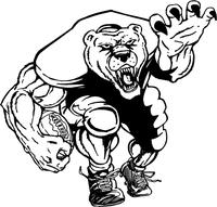 Football Bear Mascot Decal / Sticker 01F
