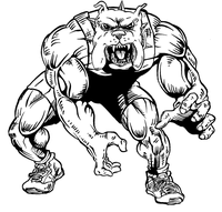 Wrestling Bulldog Mascot Decal / Sticker 3
