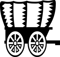 Covered Wagon Decal / Sticker 01
