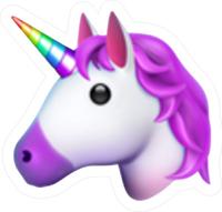 Emoji Unicorn Decal / Sticker 09