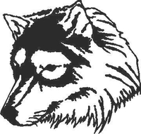 Wolf Decal / Sticker 06