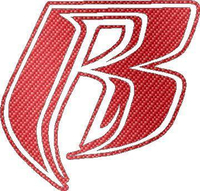 Red Carbon Fiber Ruff Ryders Decal / Sticker 02