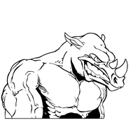 Rhinos Mascot Decal / Sticker
