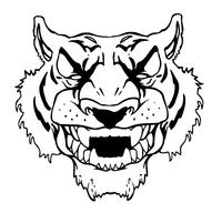 Tigers Head Mascot Decal / Sticker