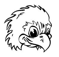 Eagles Mascot Decal / Sticker 1