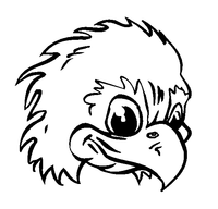 Eagles Mascot Decal / Sticker 1