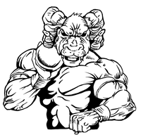Track and Field Rams Mascot Decal / Sticker 3