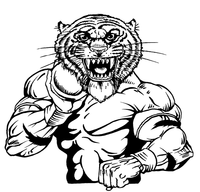 Track and Field Tigers Mascot Decal / Sticker 3