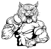 Track and Field Wildcats Mascot Decal / Sticker 3