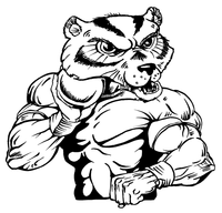 Track and Field Wolverines / Badgers Mascot Decal / Sticker 2
