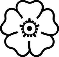 Flower Decal / Sticker 06