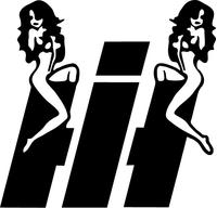 International Decal / Sticker With Girls 03