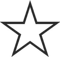 Star Decal / Sticker 02