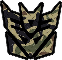 Traditional Brown Camoflauge Decepticon Decal / Sticker