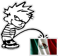 Z1 Pee On Mexican Flag Decal / Sticker
