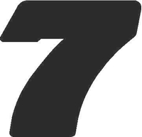 7 Race Number Decal / Sticker