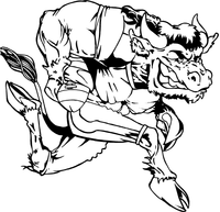 Football Buffalo Mascot Decal / Sticker