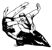 Karate Toss Decal / Sticker