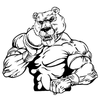 Track and Field Bear Mascot Decal / Sticker 05