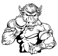 Shot Put Buffalo Mascot Decal / Sticker tf2